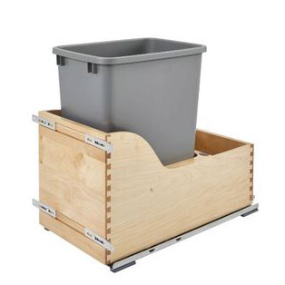 Rev-A-Shelf Natural Maple Single Pull-Out Waste Container