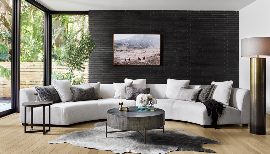 living room featuring a large sectional