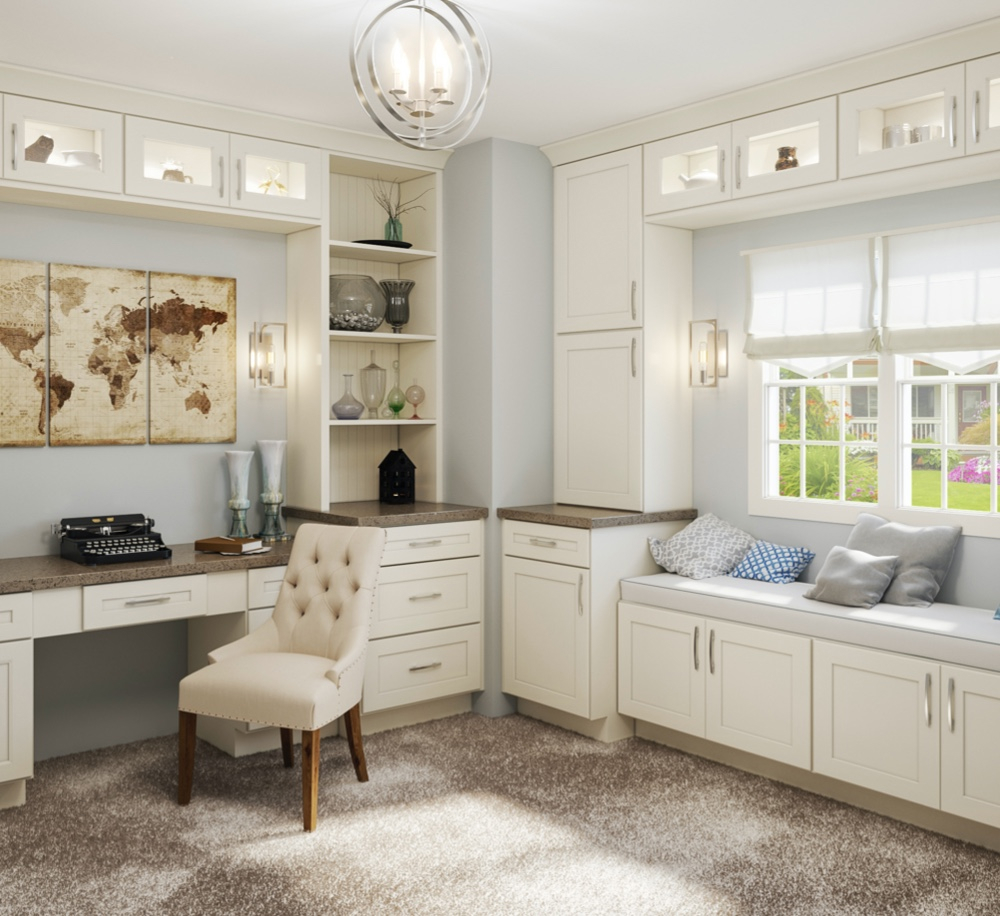 Shaker Antique White Cabinets