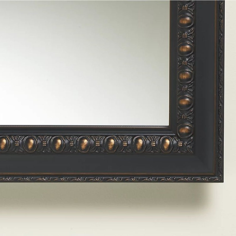 close-up image of a framed mirror