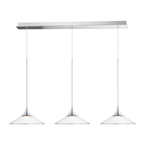 linear pendant in polished chrome
