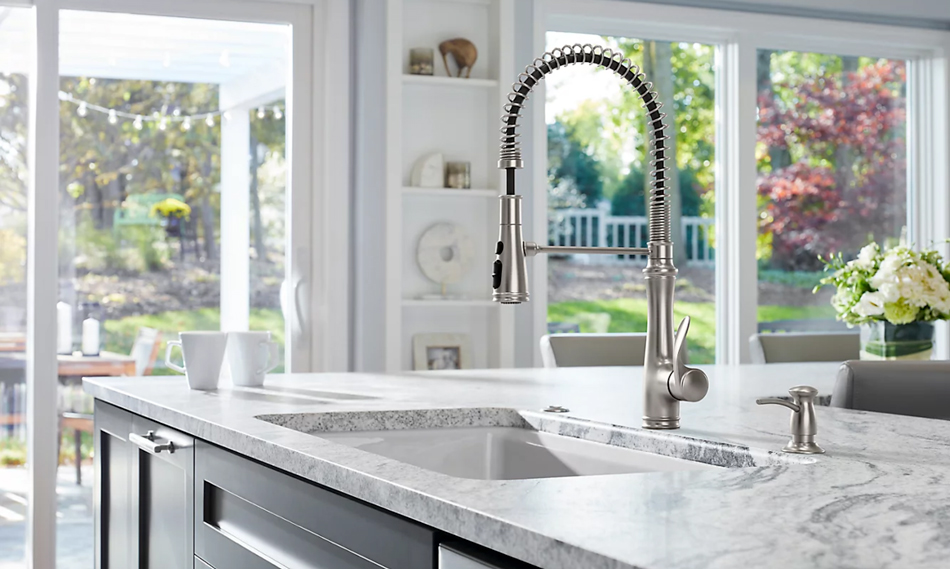 faucet in a kitchen