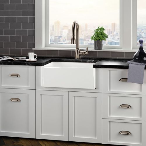laundry sink and faucet