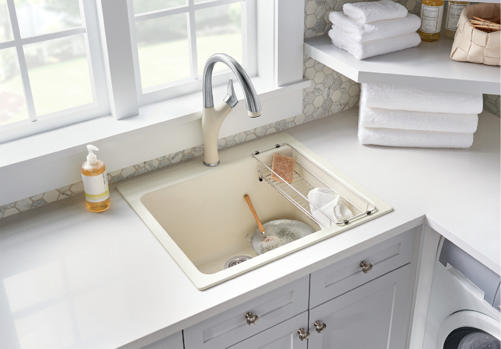 small-sized laundry sink