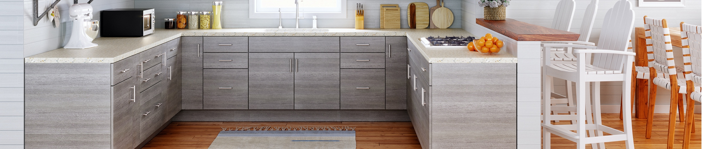 Gray Kitchen Cabinets Vevano Home